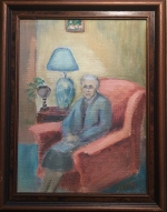 Old woman in chair